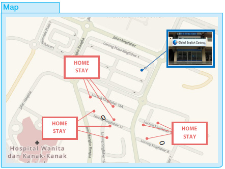 Location Map - Homestay