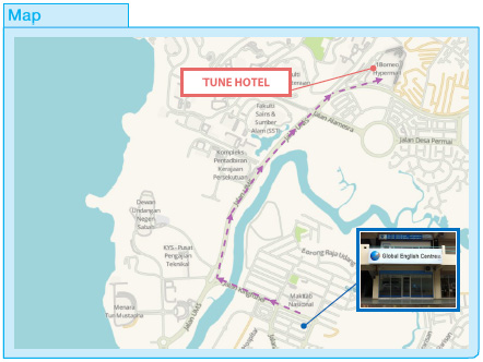 Location Map - Tune Hotel